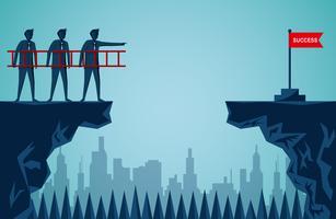 Conceito de trabalho em equipe de empresários vetor