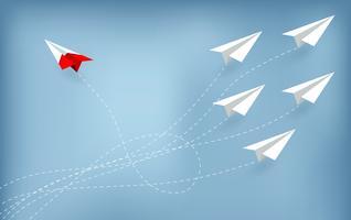 Conceito de negócio de avião de papel vetor