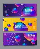 Holograma abstrato Banner Design vetor