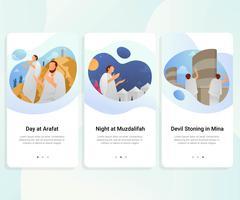 Guia do Hajj, interface de usuário passo a passo vetor