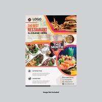 Design de folheto moderno restaurante vetor