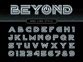 alfabeto e fonte arredondada estilizada vetor