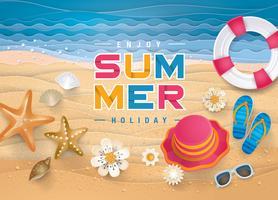 Aprecie o cartão de verão