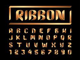 Fitas alfabeto letras e números vetor