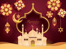 Cartão de Ramadan Kareem vetor