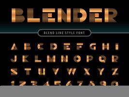 Letras e alfabeto de liquidificador de largura larga