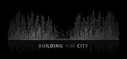 Paisagem abstrata da cidade vetor