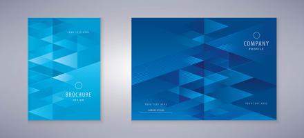 Design de livro de capa de triângulo