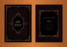 O grande convite de Gatsby Cartão vetor