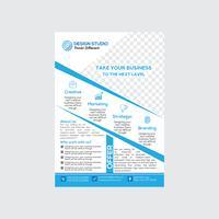 Design de folheto empresarial moderno e limpo vetor
