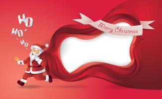 papermerry natal quadro de santa vetor