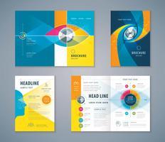 Conjunto de design de livro de capa de olho abstrato colorido