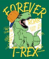 Ilustração de dinossauro T-Rex vetor