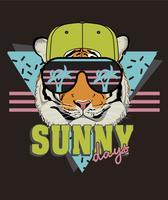 Ilustração de tigre de verão vetor