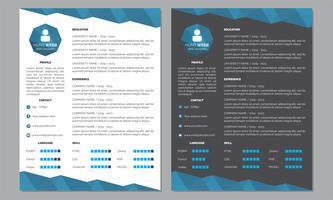 Curriculum Vitae Resumo Cor Azul Escura e Limpa vetor