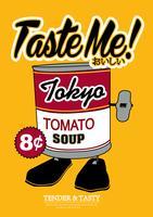 Cartaz de sopa de tomate vetor
