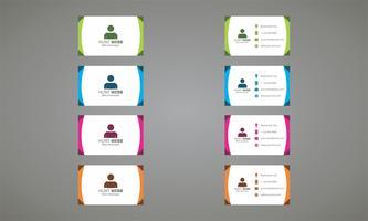 Conjunto de modelo de cor de cartão de visita vetor