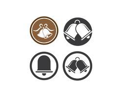 conjunto de ícones de ilustração de sino de Natal vetor