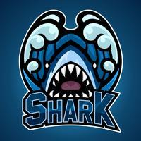 Projeto de mascote de tubarão vetor