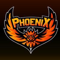 Phoenix, logotipo da mascote, adesivo vetor