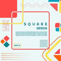 Meio-tom de estilo moderno de design quadrado vetor