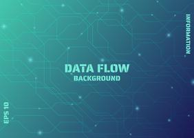 Linhas de fluxo de dados vetor