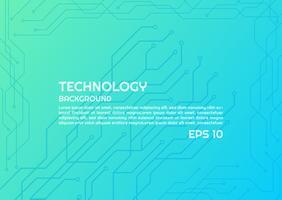 Linhas brilhantes de tecnologia