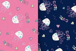 conjunto de padrão de água-viva