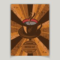 Café, alimentos, bebidas Flyer vetor