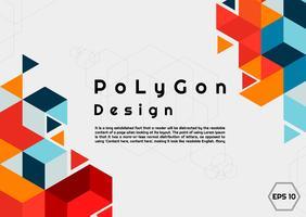 Cartaz de fundo do polígono vetor