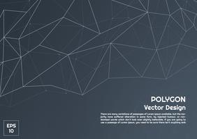 Fundo escuro abstrato polígono vetor