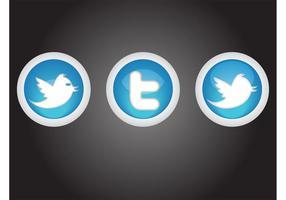 Botões de Twitter vetor