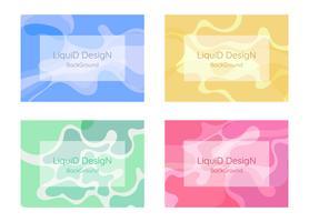 Design de fundo líquido vetor