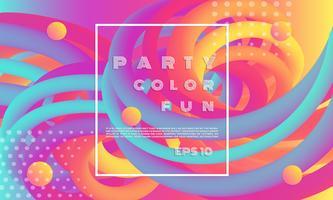 Banner de linha fluida colorida