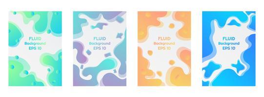 Estilo fluido líquido moderno fundo colorido