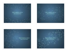 Estrutura de fundo de tecnologia digital