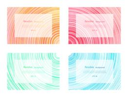 Revolver fundo redemoinho colorido conjunto de banner suave vetor