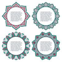 Mandala. Conjunto de ornamento redondo