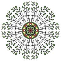 Mandala ornamento floral em estilo étnico vetor