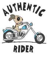 Authentic Rider Dog vetor