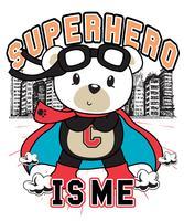 O super-herói sou eu urso vetor