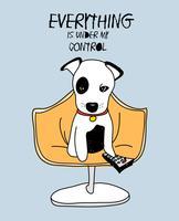 Cachorro fofo desenhado de mão vetor