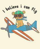 Eu acredito que posso voar Bear vetor