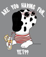 Você está se divertindo ainda cão vetor