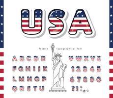 Fonte dos desenhos animados dos EUA vetor