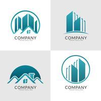 coleção de logotipo imobiliário moderno vetor
