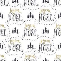 Teste padrão sem emenda mão desenhada com elementos de design de Natal vetor