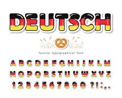 Fonte dos desenhos animados da Alemanha vetor