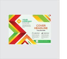 Panfleto comercial profissional elegante Design colorido vetor