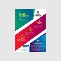 Design de folheto colorido negócios imobiliários vetor